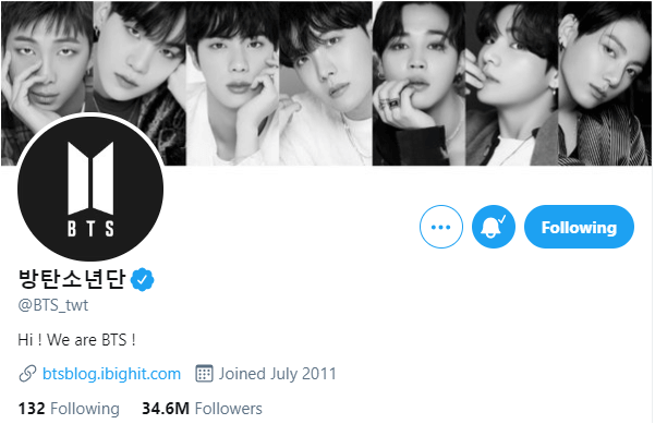 bts group account twitter