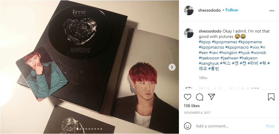 shessododo unboxing vixx album source shessododo instagram account