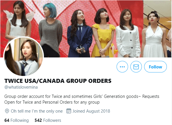 group order twitter account for onces source whatislovemina twitter account