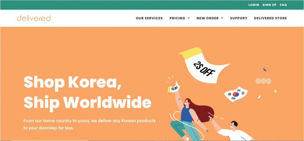 delivered korea website delivered.co.kr