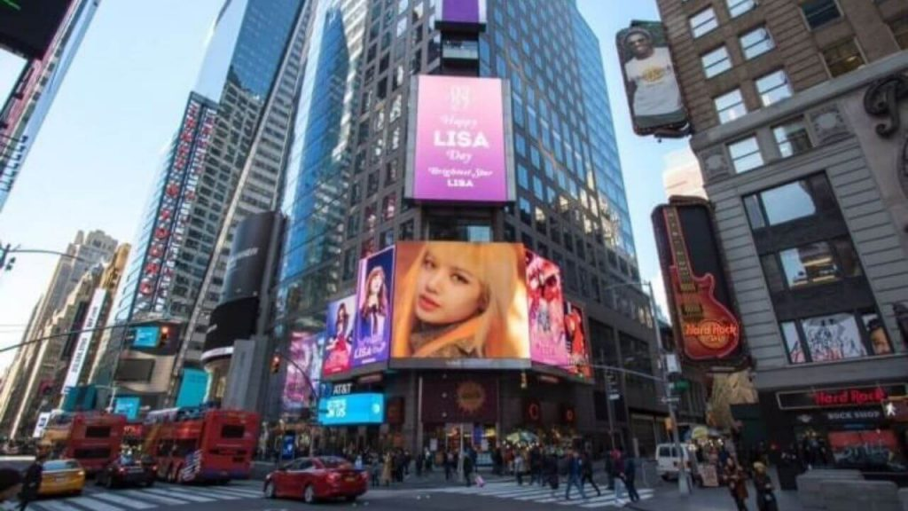 kpop fan support on public ads like new york times square delivered korea blog