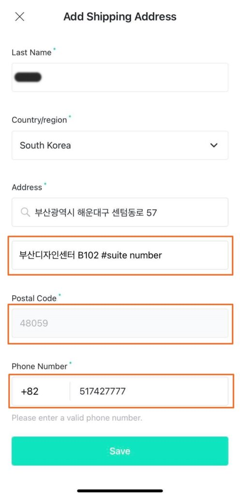 Step 4 Fill up the rest of the form address postal code and number