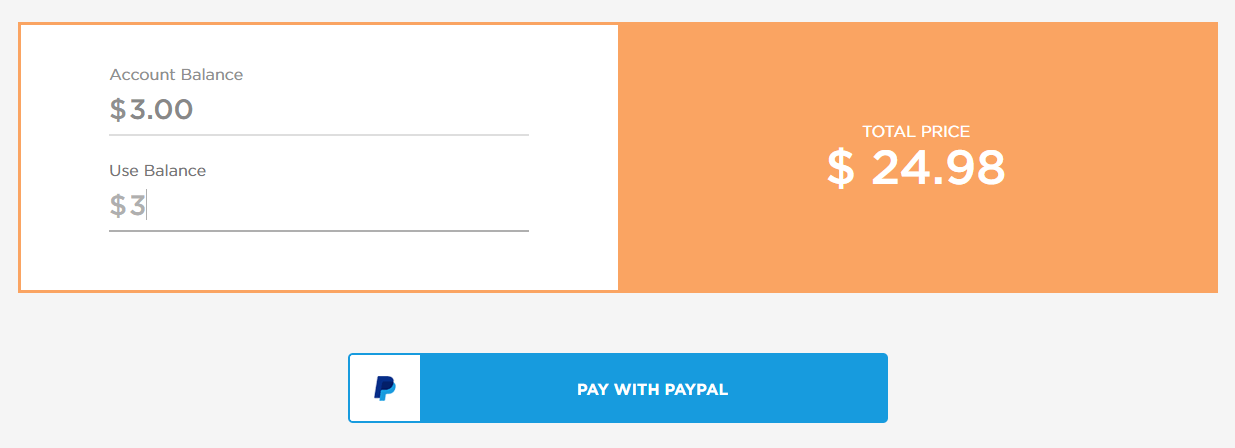 how do i pay with a combination of paypal and account credits delivered korea 1