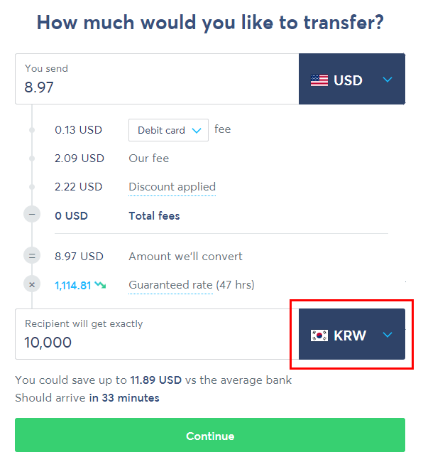 how to pay with transferwise or other international money transfer solution delivered korea 3
