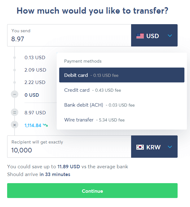 how to pay with transferwise or other international money transfer solution delivered korea 4